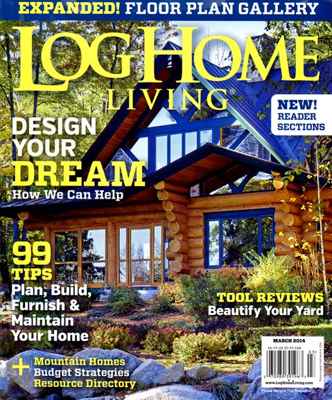 Log Home Living Cover - 3/1/2014