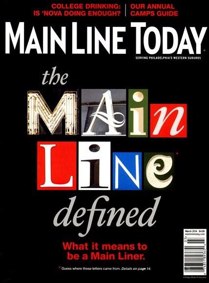 Main Line Today Cover - 3/1/2014