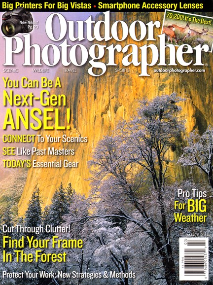 Outdoor Photographer Cover - 3/1/2014
