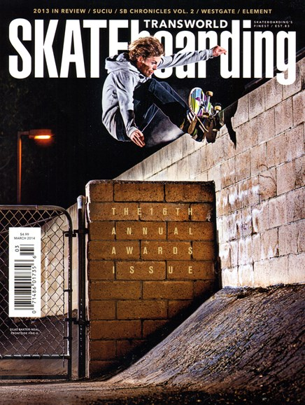 Transworld SKATEboarding Cover - 3/1/2014