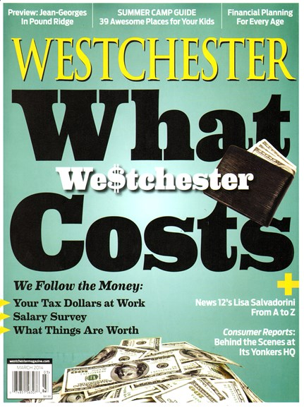 Westchester Magazine Cover - 3/1/2014