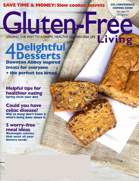 Gluten-Free Living Cover - 4/1/2014