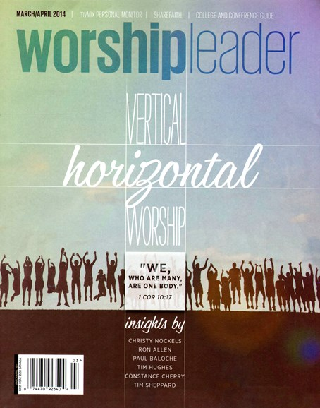 Worship Leader Magazine Cover - 3/1/2014