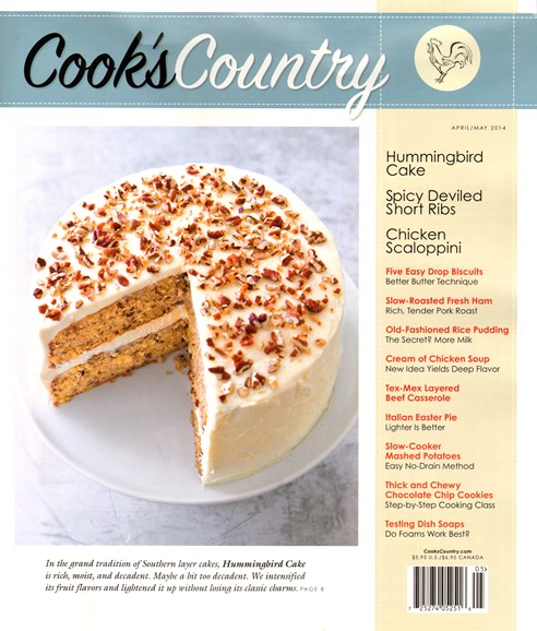 Cook's Country Cover - 4/1/2014