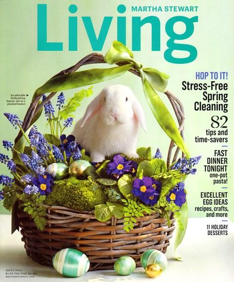 Martha Stewart Living Cover - 4/1/2014