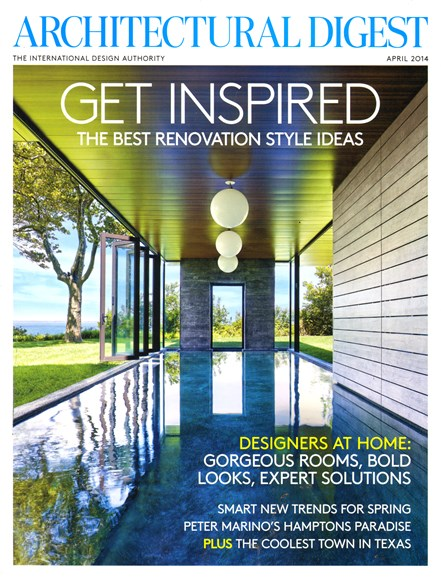 Architectural Digest Cover - 4/1/2014