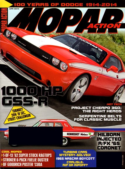 Mopar Action Cover - 4/1/2014