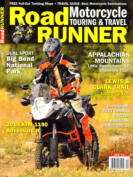 Road RUNNER Motorcycle & Touring Cover - 4/1/2014