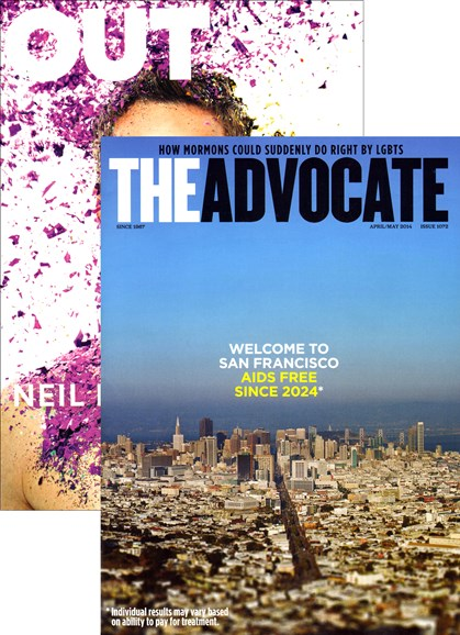 Out & The Advocate Edition Cover - 4/1/2014