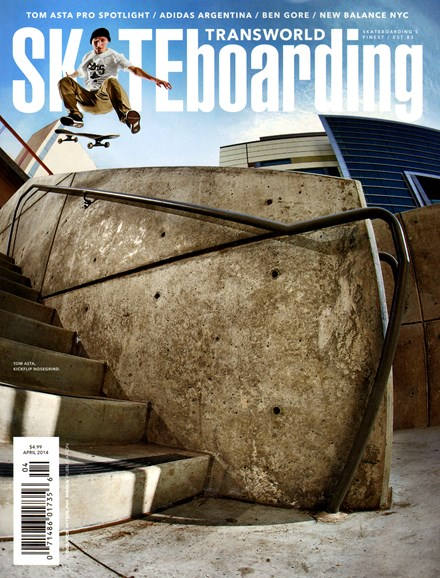 Transworld SKATEboarding Cover - 4/1/2014