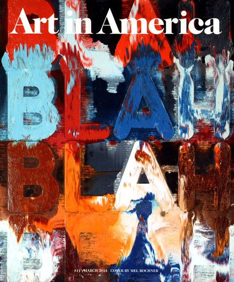Art In America Cover - 3/1/2014