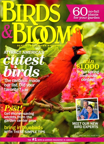 Birds & Blooms Cover - 4/1/2014