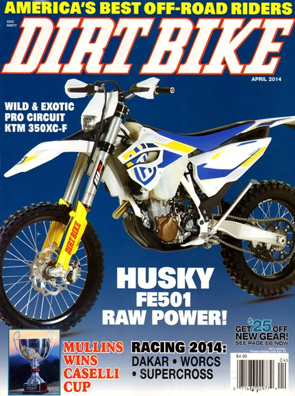 Dirt Bike Cover - 4/1/2014