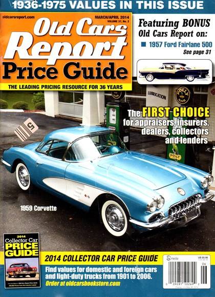 Old Cars Report Price Guide Cover - 3/1/2014