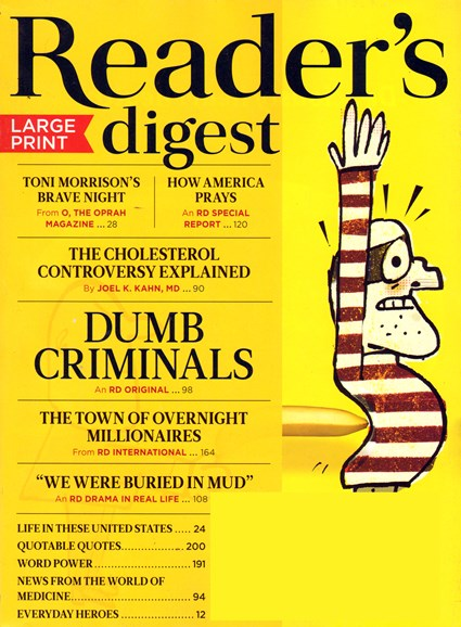 Reader's Digest - Large Print Edition Cover - 4/1/2014