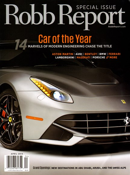 Robb Report Cover - 4/1/2014