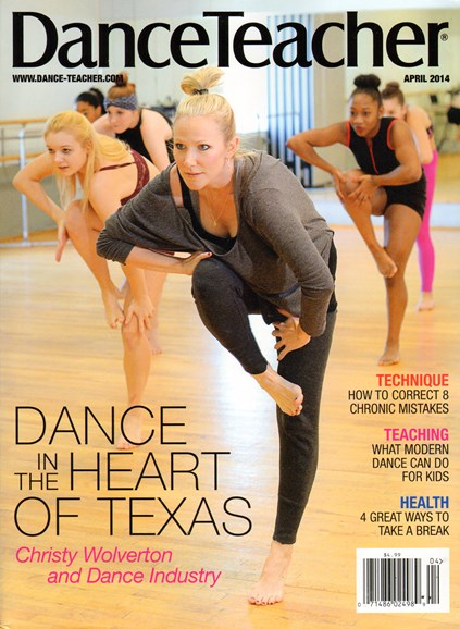 Dance Teacher Cover - 4/1/2014
