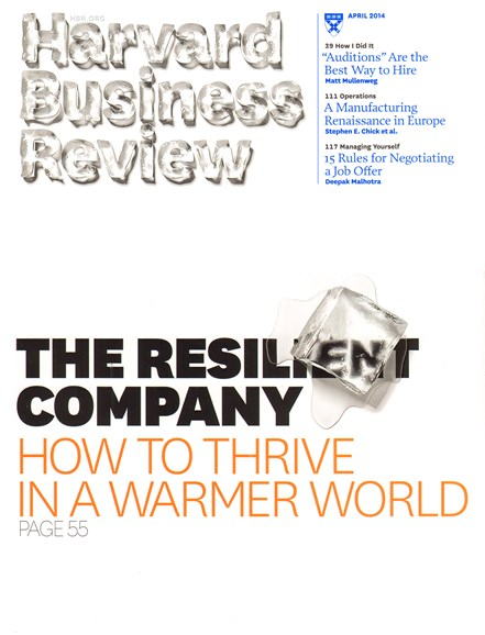 Harvard Business Review Cover - 4/1/2014