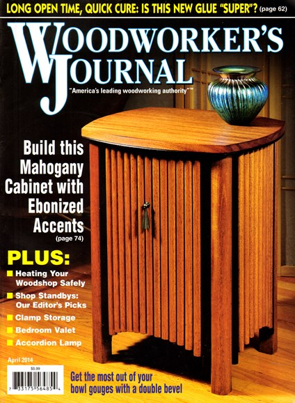 Woodworker's Journal Cover - 4/1/2014