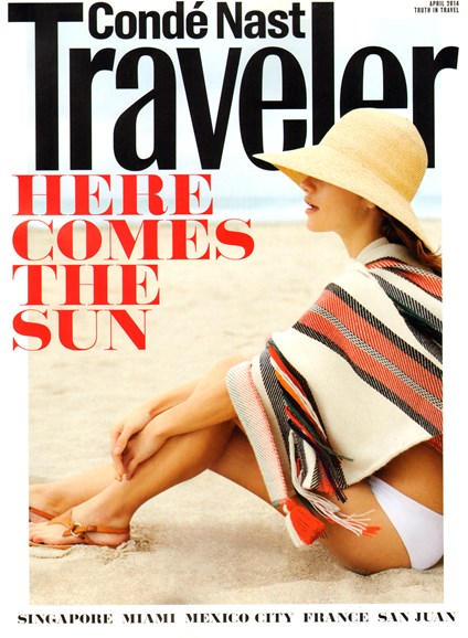 Condé Nast Traveler Cover - 4/1/2014