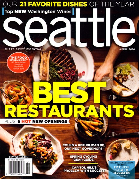 Seattle Magazine Cover - 4/1/2014