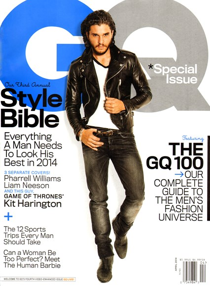 Gentlemen's Quarterly - GQ Cover - 4/1/2014