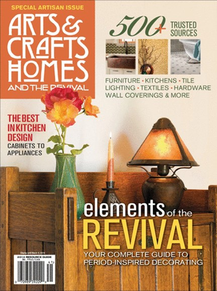 Arts & Crafts Homes Cover - 1/1/2014