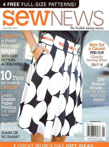 Sew News Cover - 4/1/2014