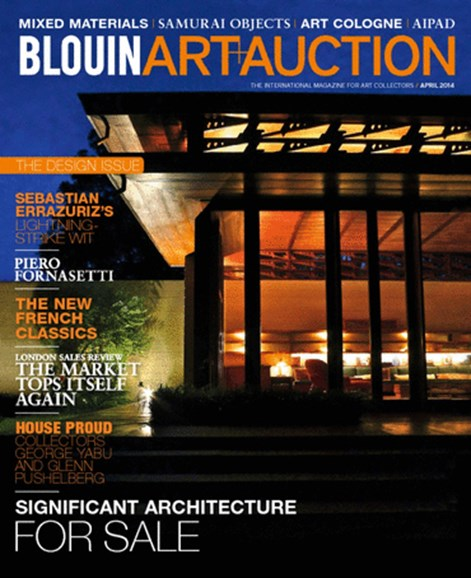 Blouin Art & Auction Cover - 4/1/2014
