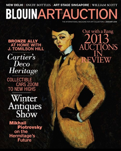Blouin Art & Auction Cover - 1/1/2014