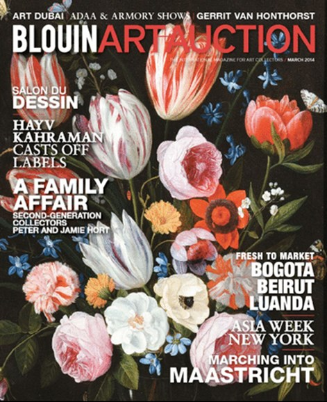 Blouin Art & Auction Cover - 3/1/2014