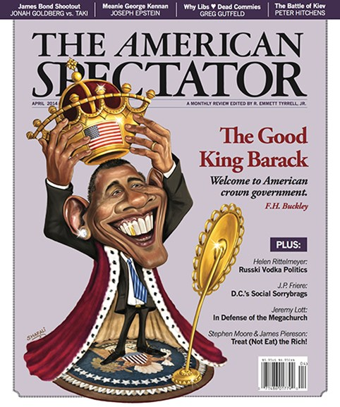 The American Spectator Cover - 4/1/2014