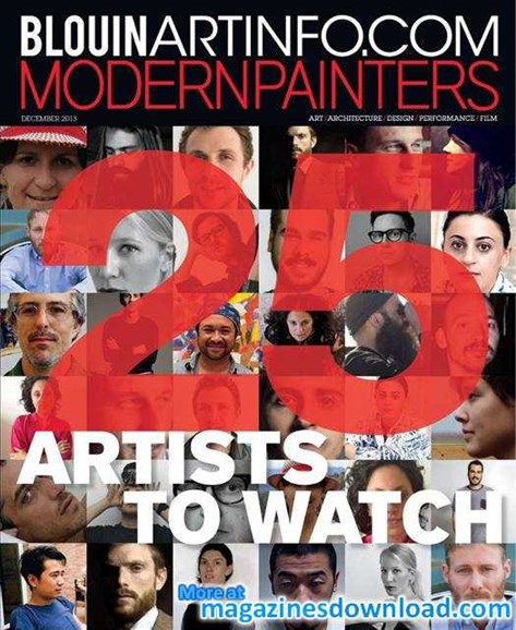 Blouin Modern Painters Cover - 12/1/2013