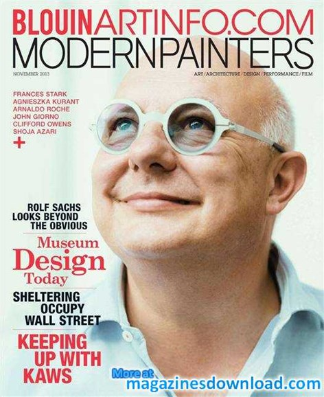 Blouin Modern Painters Cover - 11/1/2013