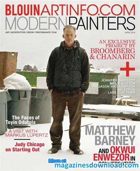 Blouin Modern Painters Cover - 4/1/2014