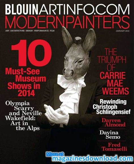 Blouin Modern Painters Cover - 1/1/2014