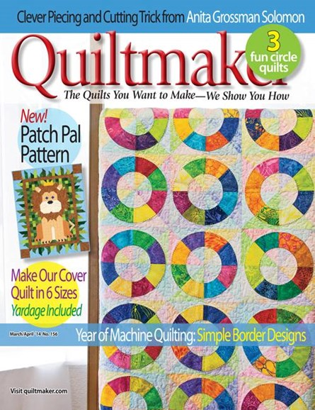Quiltmaker Cover - 3/1/2014