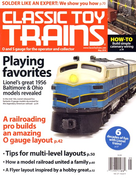 Classic Toy Trains Cover - 5/1/2014