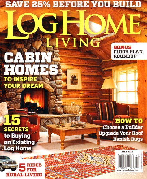 Log Home Living Cover - 5/1/2014