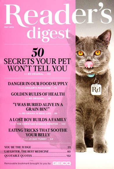 Reader's Digest Cover - 5/1/2014