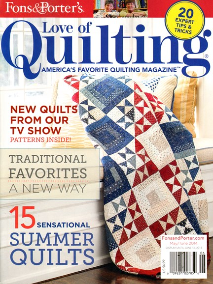 Fons & Porter's Love of Quilting Cover - 5/1/2014