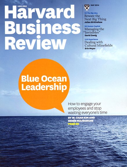 Harvard Business Review Cover - 5/1/2014