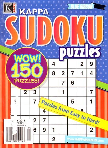Blue Ribbon Kappa Sudoku Puzzles Cover - 7/1/2014