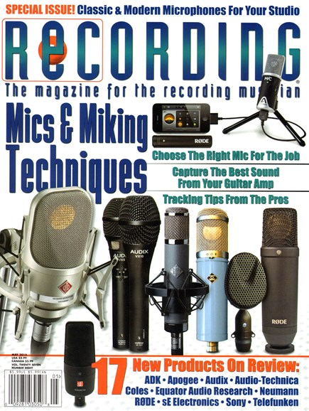 Recording Magazine Cover - 5/1/2014