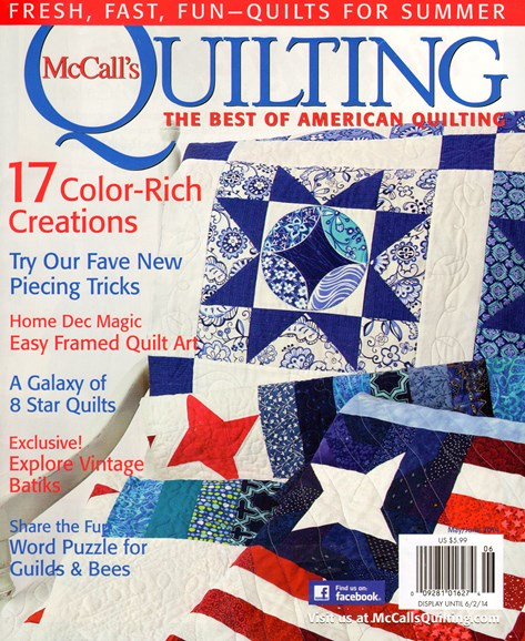 McCall's Quilting Cover - 5/1/2014
