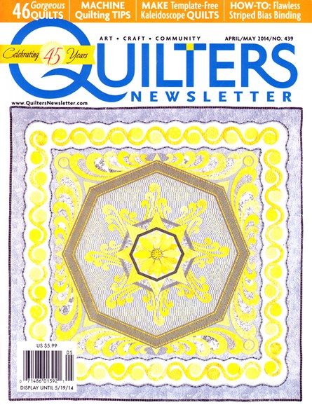 Quilter's Newsletter Cover - 4/1/2014