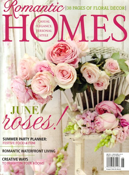 Romantic Homes Cover - 6/1/2014