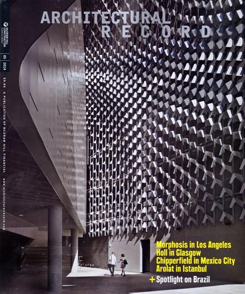 Architectural Record Cover - 5/1/2014
