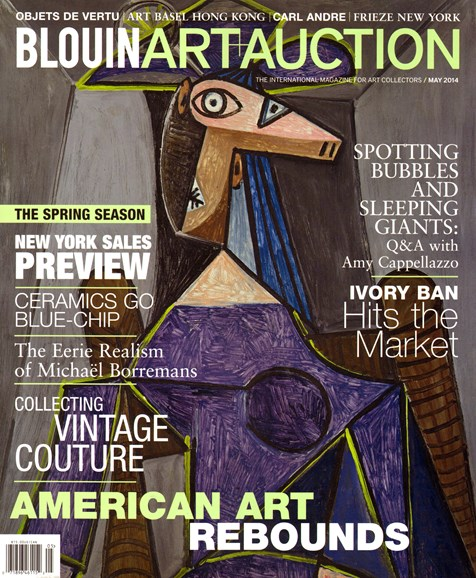 Blouin Art & Auction Cover - 5/1/2014
