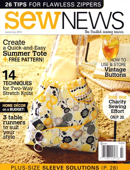 Sew News Cover - 6/1/2014